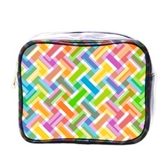 Abstract Pattern Colorful Wallpaper Mini Toiletries Bag (one Side)