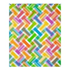 Abstract Pattern Colorful Wallpaper Shower Curtain 60  X 72  (medium)