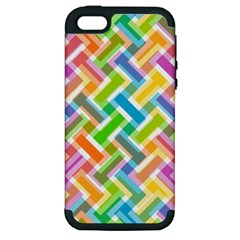 Abstract Pattern Colorful Wallpaper Apple Iphone 5 Hardshell Case (pc+silicone)