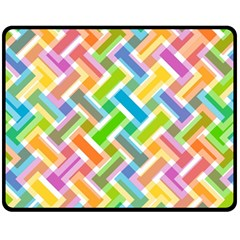 Abstract Pattern Colorful Wallpaper Double Sided Fleece Blanket (medium)
