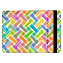 Abstract Pattern Colorful Wallpaper Samsung Galaxy Tab Pro 12 2  Flip Case by Jojostore