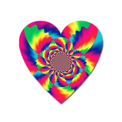 Colorful Psychedelic Art Background Heart Magnet by Jojostore