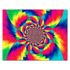 Colorful Psychedelic Art Background Rectangular Jigsaw Puzzl by Jojostore