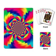Colorful Psychedelic Art Background Playing Cards Single Design