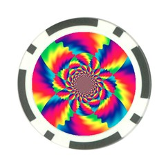 Colorful Psychedelic Art Background Poker Chip Card Guard by Jojostore