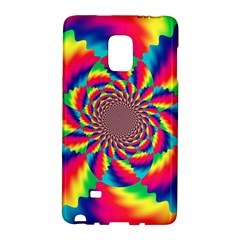 Colorful Psychedelic Art Background Samsung Galaxy Note Edge Hardshell Case by Jojostore