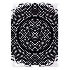 Black Lace Kaleidoscope On White Apple Ipad 3/4 Hardshell Case (compatible With Smart Cover) by Jojostore