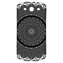 Black Lace Kaleidoscope On White Samsung Galaxy S3 S Iii Classic Hardshell Back Case by Jojostore