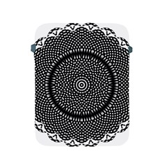 Black Lace Kaleidoscope On White Apple Ipad 2/3/4 Protective Soft Cases by Jojostore
