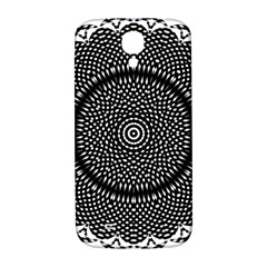 Black Lace Kaleidoscope On White Samsung Galaxy S4 I9500/i9505  Hardshell Back Case by Jojostore