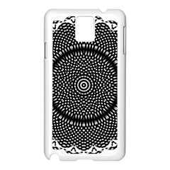Black Lace Kaleidoscope On White Samsung Galaxy Note 3 N9005 Case (white) by Jojostore
