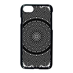 Black Lace Kaleidoscope On White Apple Iphone 7 Seamless Case (black)