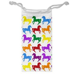 Colorful Horse Background Wallpaper Jewelry Bag