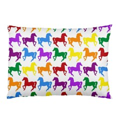 Colorful Horse Background Wallpaper Pillow Case