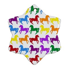 Colorful Horse Background Wallpaper Ornament (snowflake)