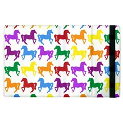 Colorful Horse Background Wallpaper Apple Ipad 2 Flip Case by Jojostore