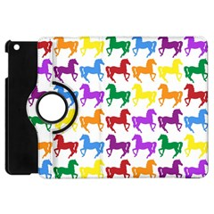 Colorful Horse Background Wallpaper Apple Ipad Mini Flip 360 Case