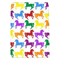 Colorful Horse Background Wallpaper Removable Flap Cover (s)