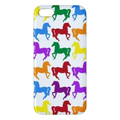 Colorful Horse Background Wallpaper Iphone 5s/ Se Premium Hardshell Case