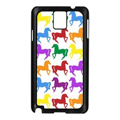 Colorful Horse Background Wallpaper Samsung Galaxy Note 3 N9005 Case (black) by Jojostore