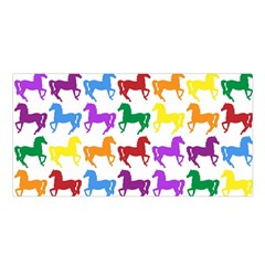 Colorful Horse Background Wallpaper Satin Shawl