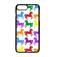 Colorful Horse Background Wallpaper Apple Iphone 7 Plus Seamless Case (black) by Jojostore