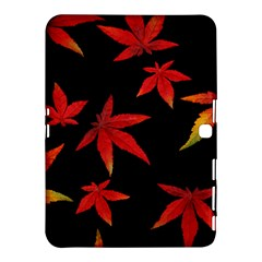 Colorful Autumn Leaves On Black Background Samsung Galaxy Tab 4 (10 1 ) Hardshell Case  by Jojostore