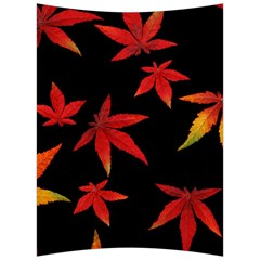 Colorful Autumn Leaves On Black Background Back Support Cushion by Jojostore