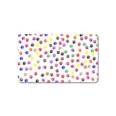 Paw Prints Background Magnet (name Card)