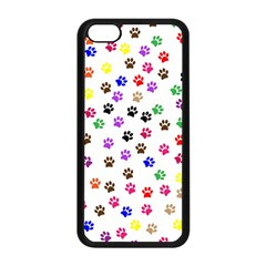 Paw Prints Background Apple Iphone 5c Seamless Case (black)