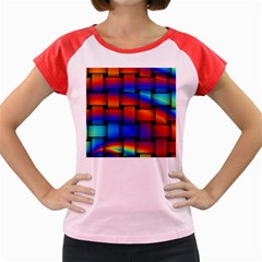 Rainbow Weaving Pattern Women s Cap Sleeve T Shirt