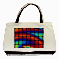 Rainbow Weaving Pattern Basic Tote Bag (two Sides) by Jojostore