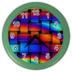 Rainbow Weaving Pattern Color Wall Clock