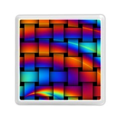 Rainbow Weaving Pattern Memory Card Reader (square)