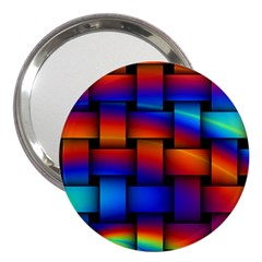 Rainbow Weaving Pattern 3  Handbag Mirrors