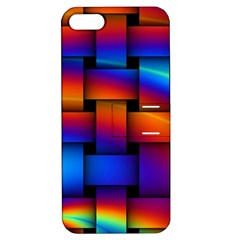 Rainbow Weaving Pattern Apple Iphone 5 Hardshell Case With Stand
