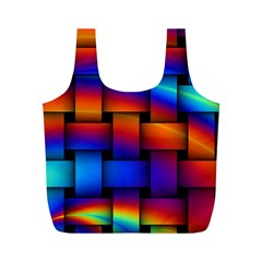 Rainbow Weaving Pattern Full Print Recycle Bag (m) by Jojostore