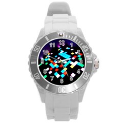 Dance Floor Round Plastic Sport Watch (l) by Jojostore