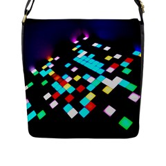Dance Floor Flap Closure Messenger Bag (l)