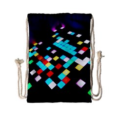 Dance Floor Drawstring Bag (small) by Jojostore