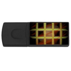 Drawing Of A Color Fractal Window Rectangular Usb Flash Drive