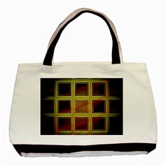Drawing Of A Color Fractal Window Basic Tote Bag