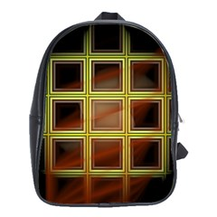Drawing Of A Color Fractal Window School Bag (large)