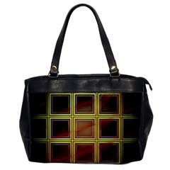 Drawing Of A Color Fractal Window Oversize Office Handbag by Jojostore