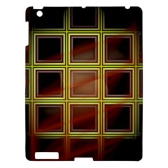 Drawing Of A Color Fractal Window Apple Ipad 3/4 Hardshell Case by Jojostore