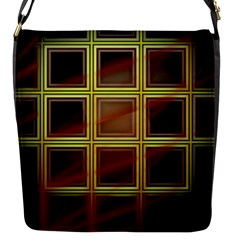 Drawing Of A Color Fractal Window Flap Closure Messenger Bag (s) by Jojostore