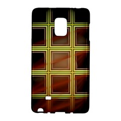 Drawing Of A Color Fractal Window Samsung Galaxy Note Edge Hardshell Case by Jojostore