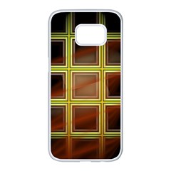 Drawing Of A Color Fractal Window Samsung Galaxy S7 Edge White Seamless Case