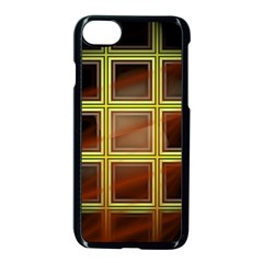 Drawing Of A Color Fractal Window Apple Iphone 7 Seamless Case (black)