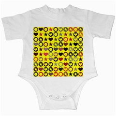 Heart Circle Star Seamless Pattern Infant Creepers by Jojostore